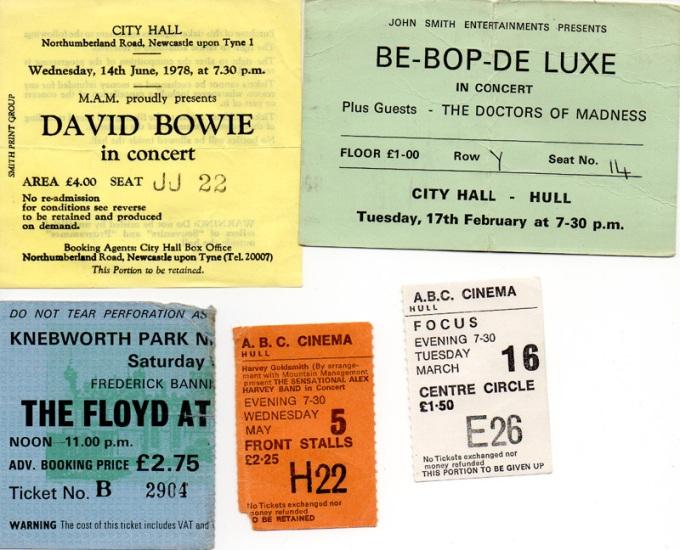 1970s Concert Tickets