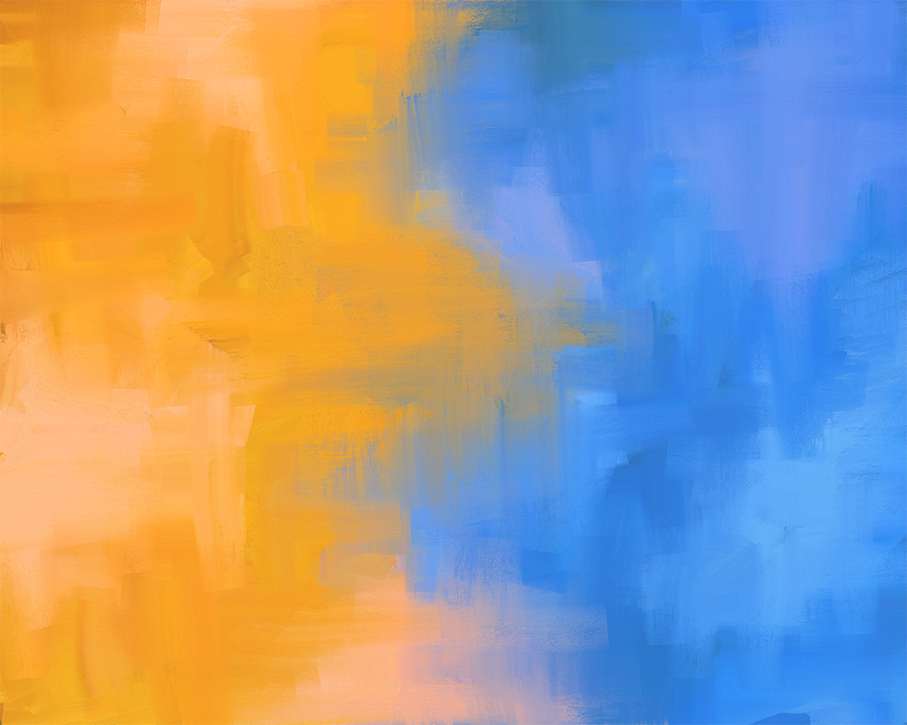 digital painting orange and blue 1 it happened so fast. Black Bedroom Furniture Sets. Home Design Ideas