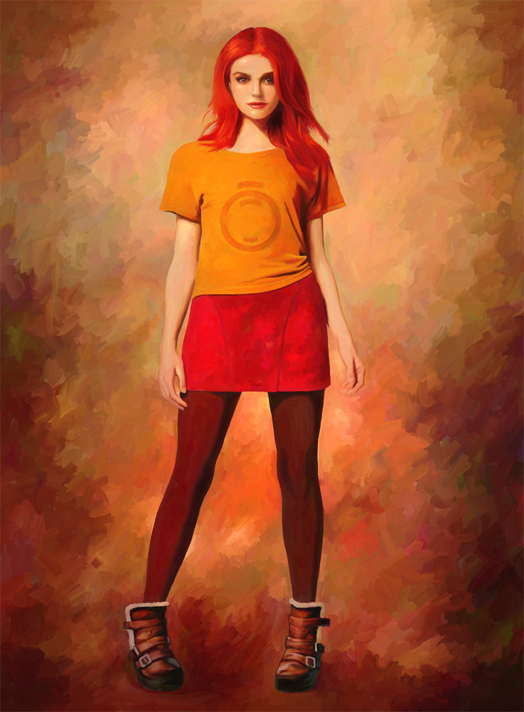Painting of red headed woman share your